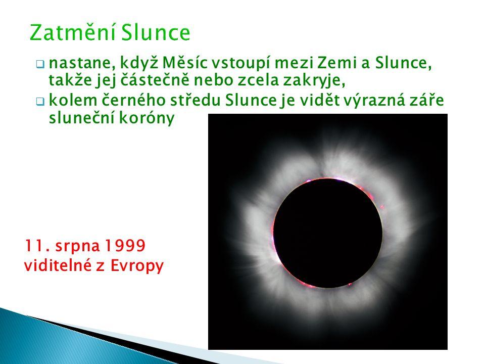  nastane, když Měsíc vstoupí mezi Zemi a Slunce, takže jej částečně nebo zcela zakryje,  kolem černého středu Slunce je vidět výrazná záře sluneční