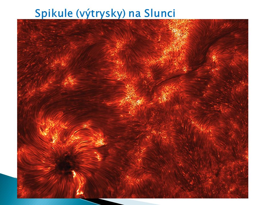 Spikule (výtrysky) na Slunci