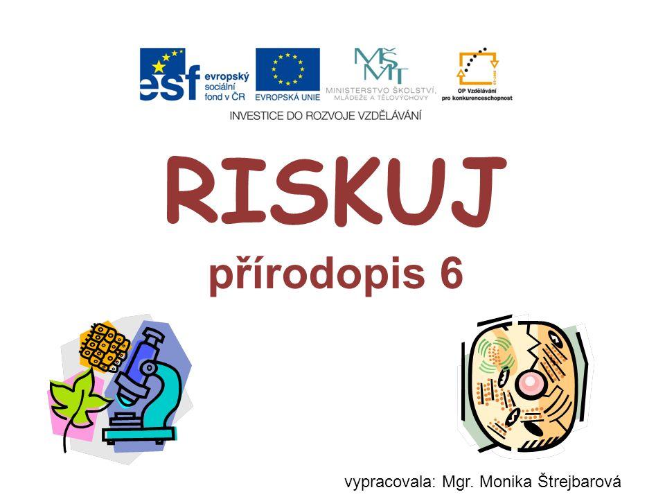 RISKUJ přírodopis 6 vypracovala: Mgr. Monika Štrejbarová