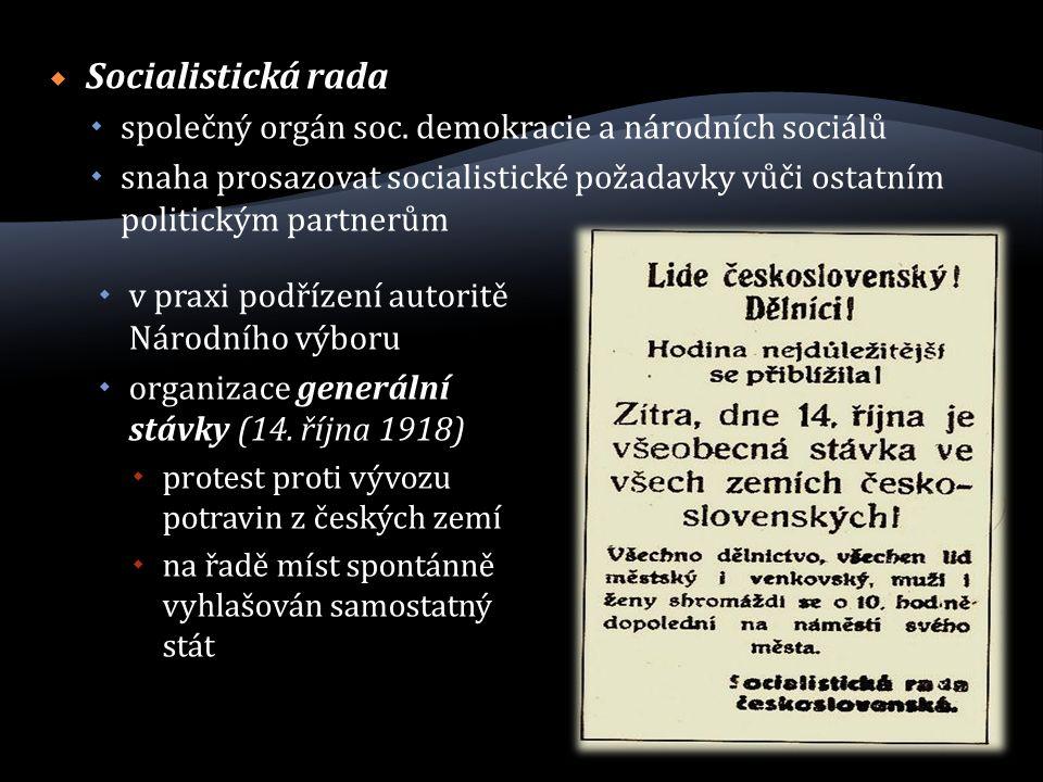  Socialistická rada  společný orgán soc.