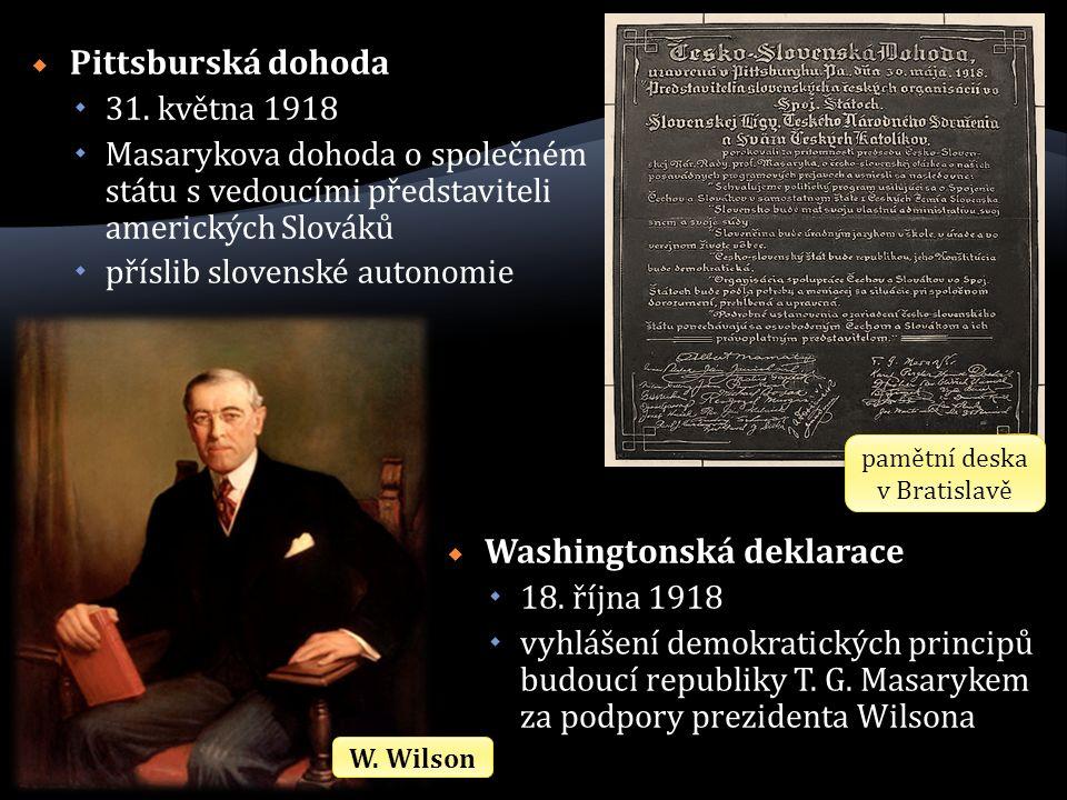  Pittsburská dohoda  31.