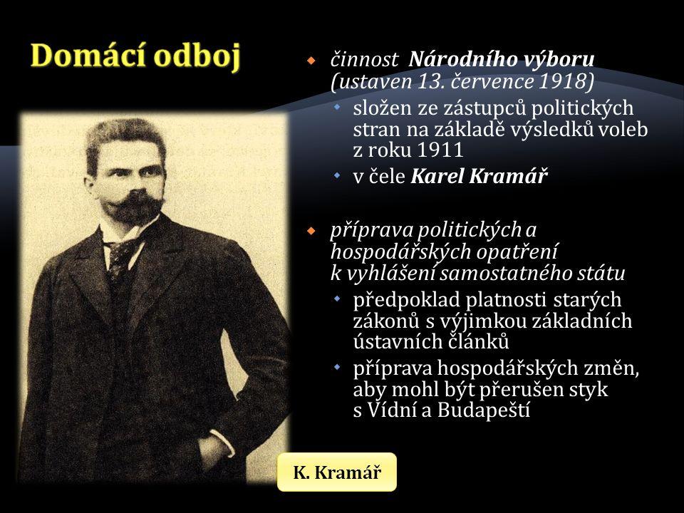  činnost Národního výboru (ustaven 13.