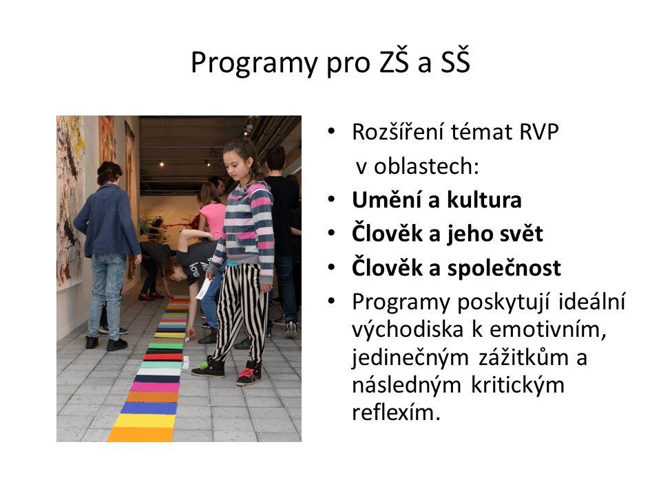 Žáci k programu obdrží pracovní listy