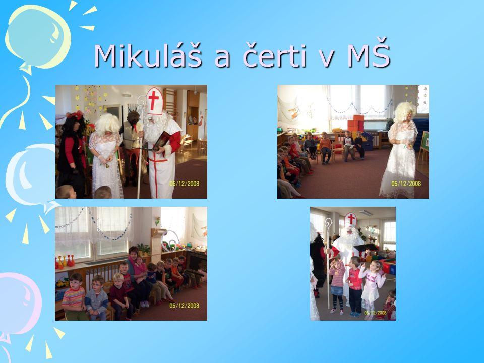 Mikuláš a čerti v MŠ