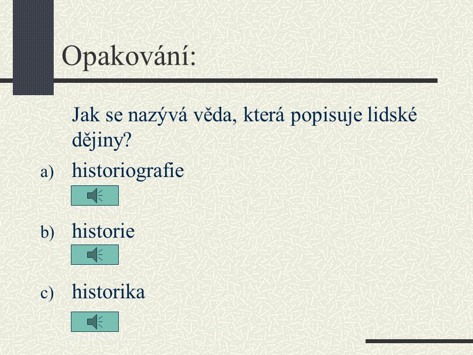 Jak se stát historikem.