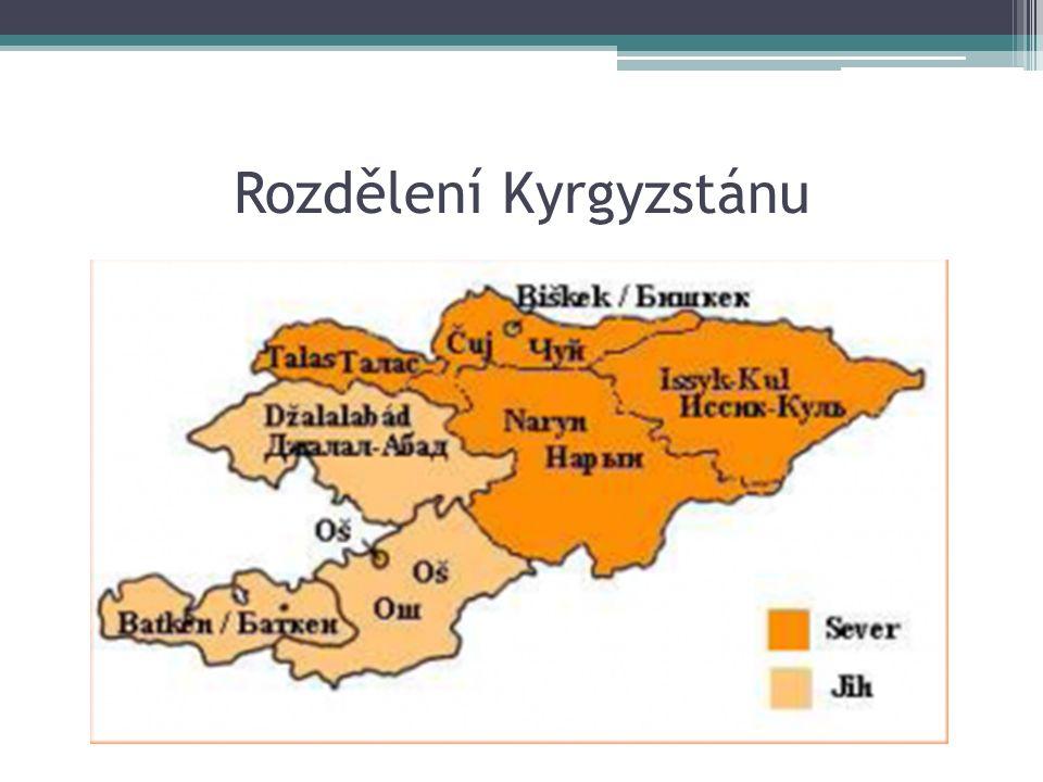 Rozdělení Kyrgyzstánu