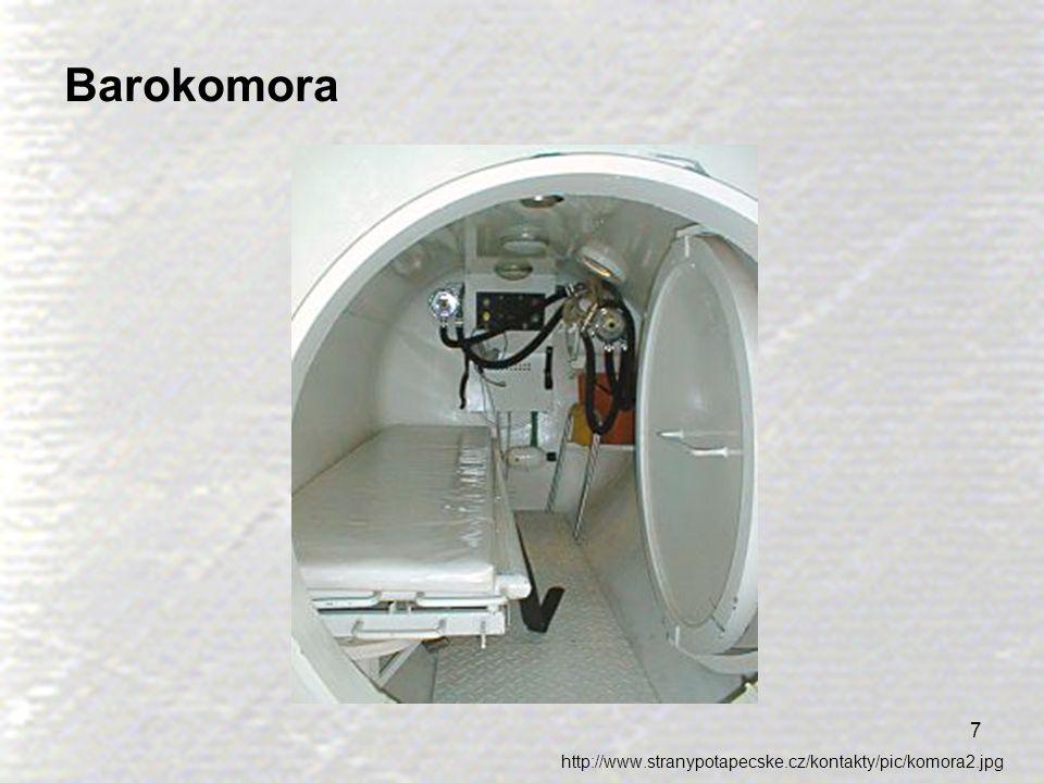 8 Dysbarismus Dysbarismus je označením pro problémy způsobené malými změnami tlaku vzduchu (do 5 kPa) – zejména během letecké přepravy.