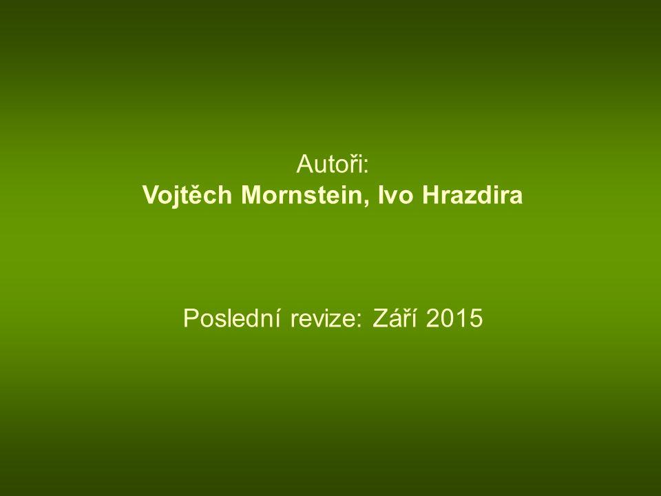 Autoři: Vojtěch Mornstein, Ivo Hrazdira Poslední revize: Září 2015