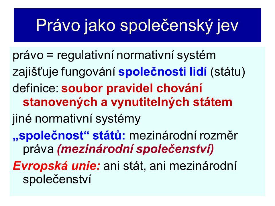 Přesahy mezinárodního práva do práva vnitrostátního Mezinárodní smlouva – vztahuje se na jednotlivce stejně jako zákon (viz Ústava ČR – čl.