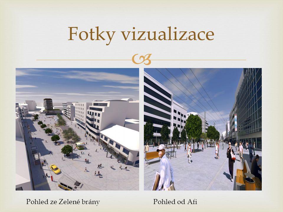  Fotky vizualizace Pohled ze Zelené brányPohled od Afi