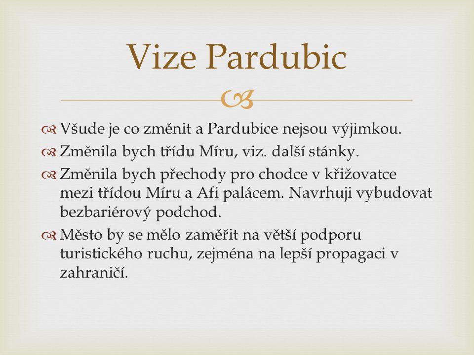   Všude je co změnit a Pardubice nejsou výjimkou.