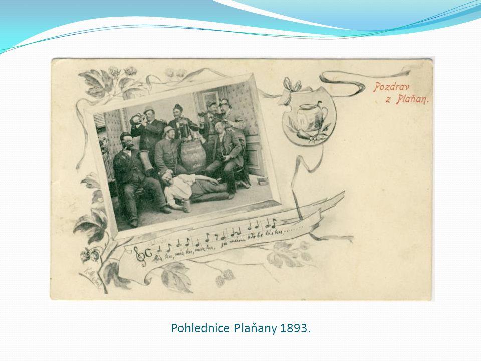 Pohlednice Plaňany 1893.