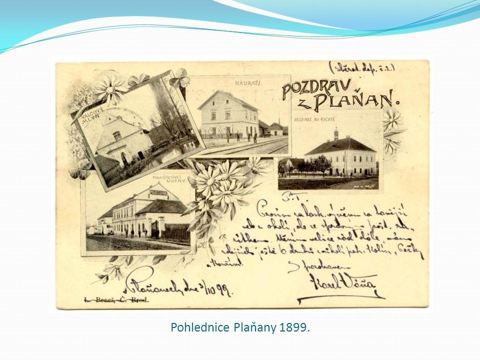 Pohlednice Plaňany 1899.