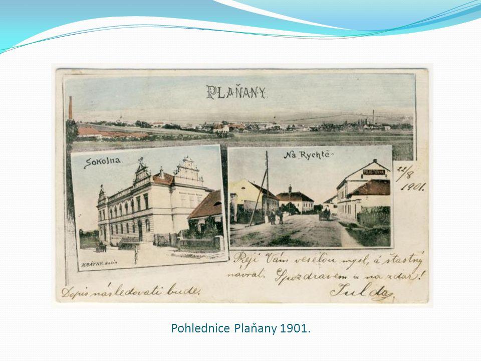 Pohlednice Plaňany 1901.