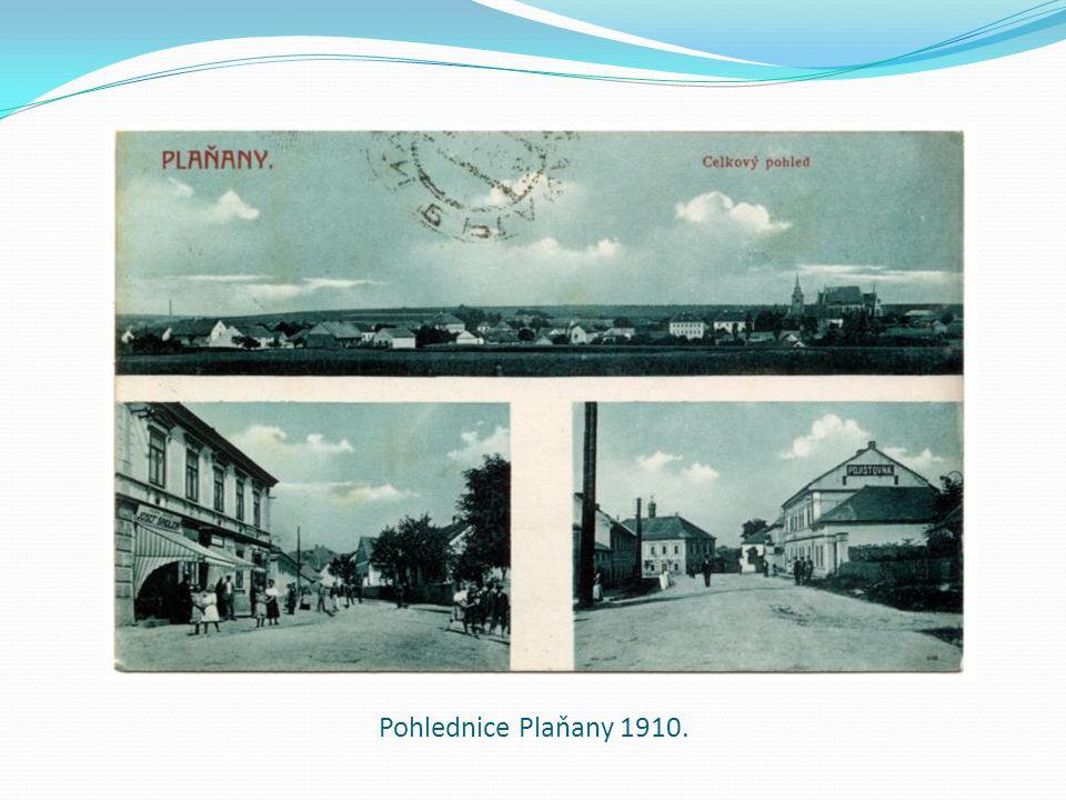 Pohlednice Plaňany 1910.