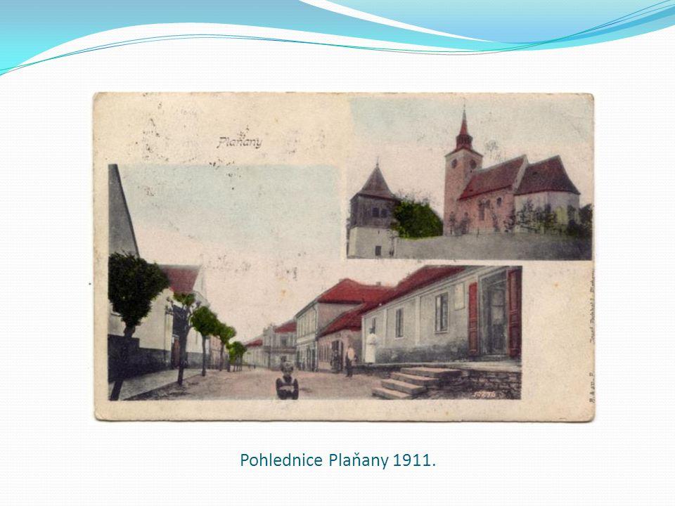 Pohlednice Plaňany 1911.