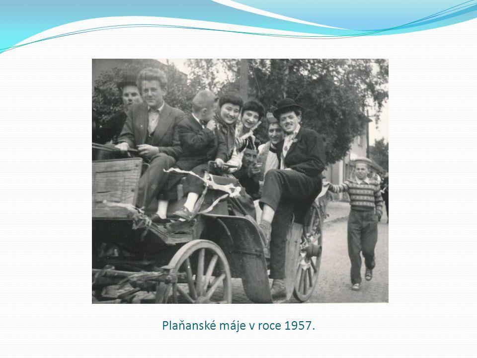Plaňanské máje v roce 1957.