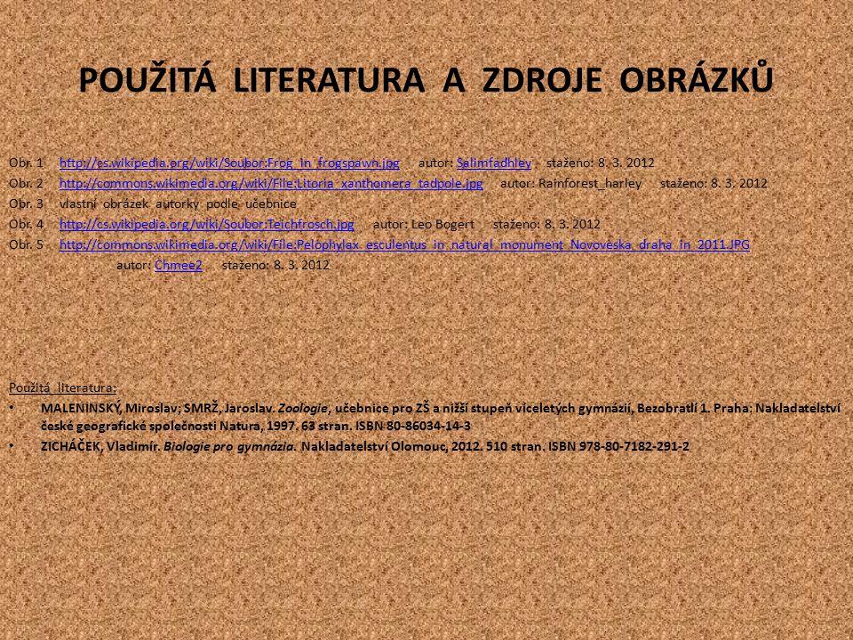 POUŽITÁ LITERATURA A ZDROJE OBRÁZKŮ Obr.