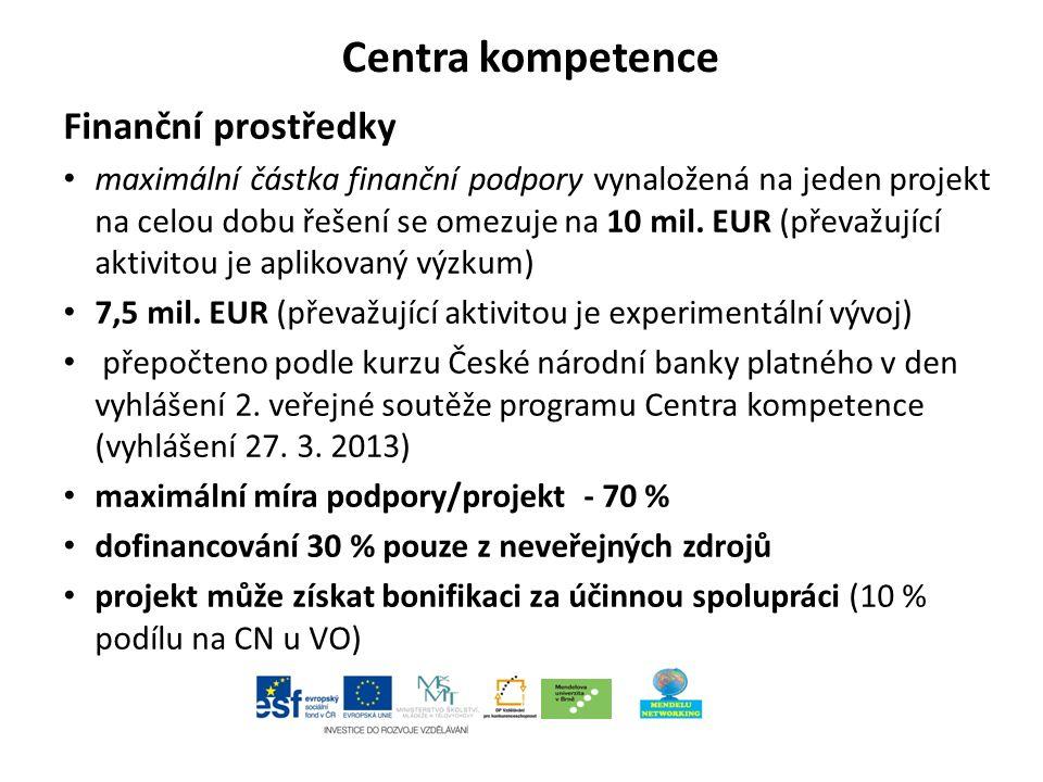 Projekty excelence Soutěžní lhůta začíná 9.dubna 2013.