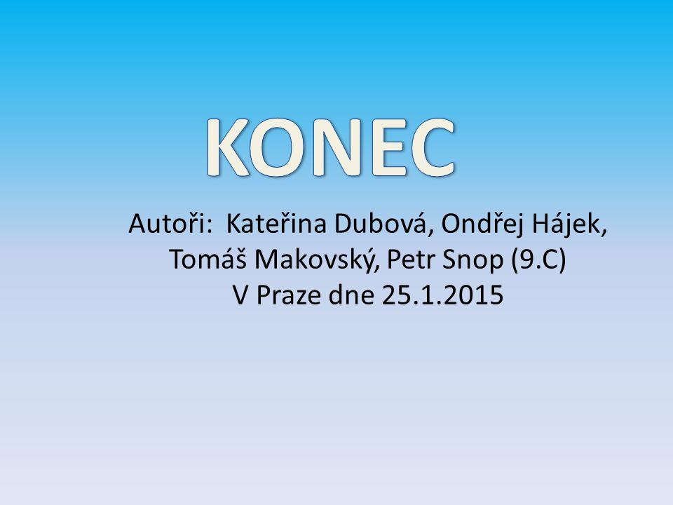 Autoři: Kateřina Dubová, Ondřej Hájek, Tomáš Makovský, Petr Snop (9.C) V Praze dne 25.1.2015