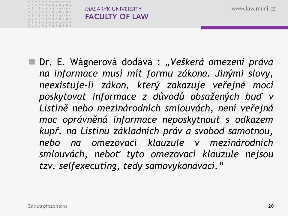 www.law.muni.cz Dr. E.