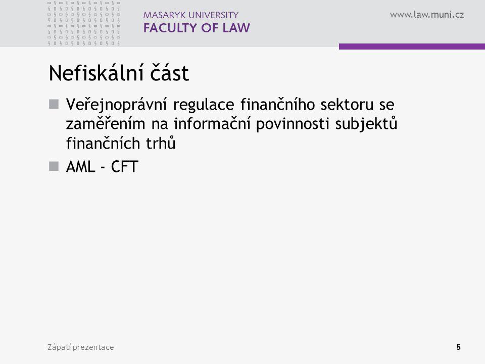 www.law.muni.cz Zápatí prezentace66 Proč se zavádí DS.