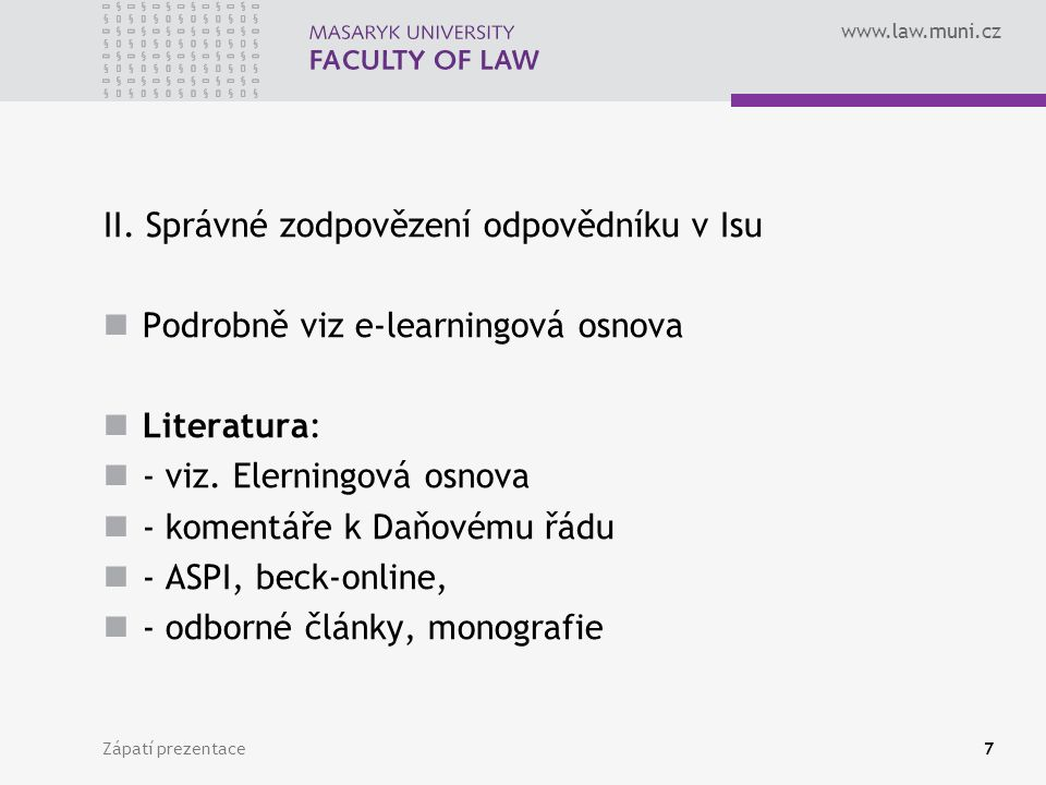 www.law.muni.cz II.