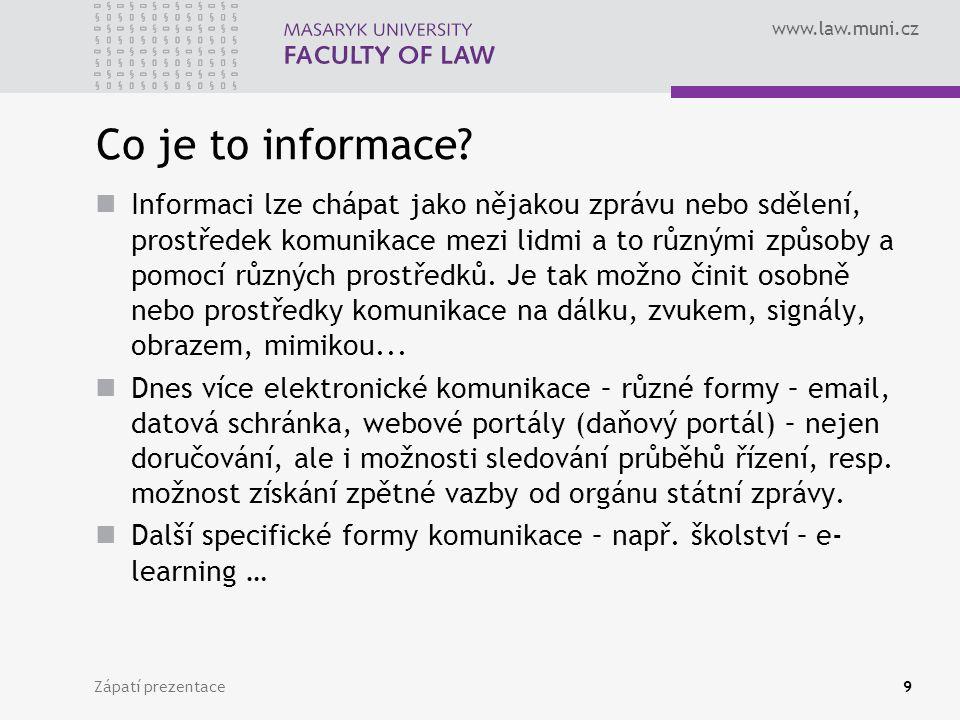 Jednací jazyk Zápatí prezentace