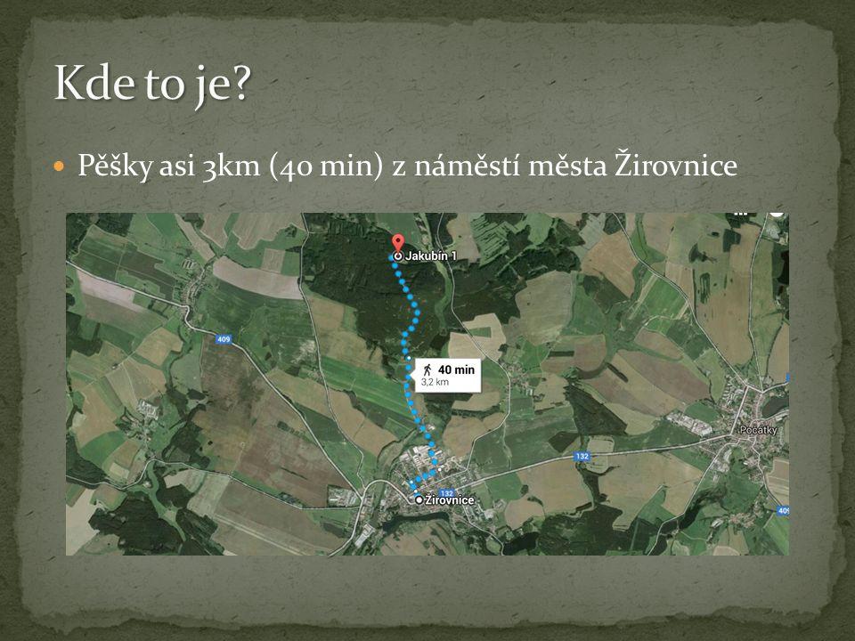 Pěšky asi 3km (40 min) z náměstí města Žirovnice