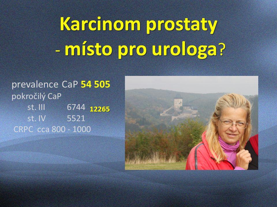 Karcinom prostaty - místo pro urologa .- místo pro urologa .