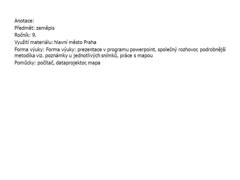 Anotace: Předmět: zeměpis Ročník: 9.