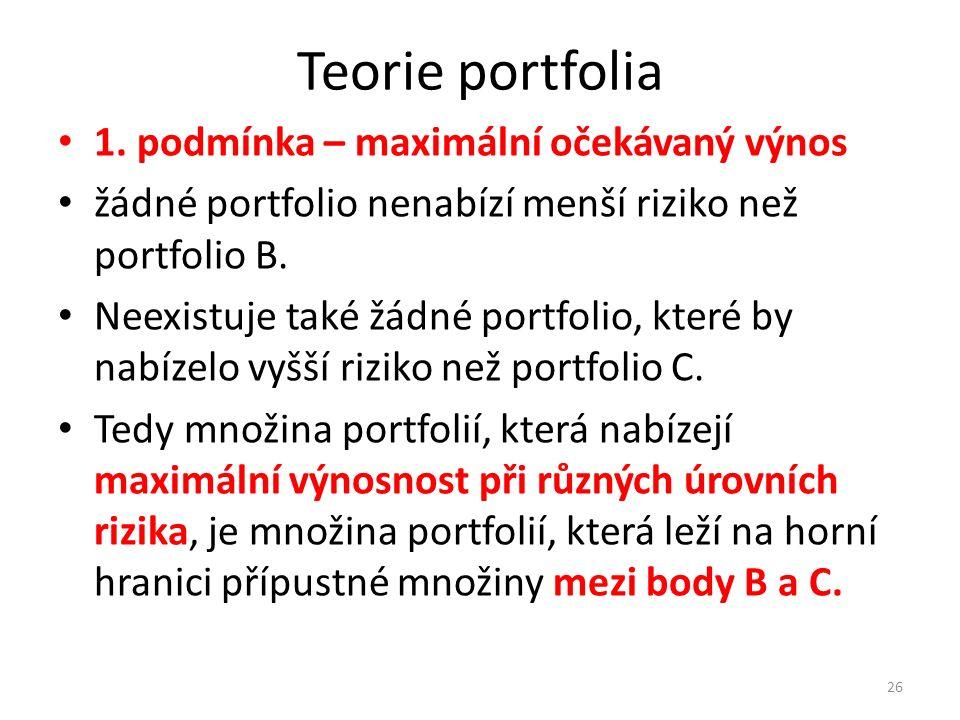 Teorie portfolia 1.
