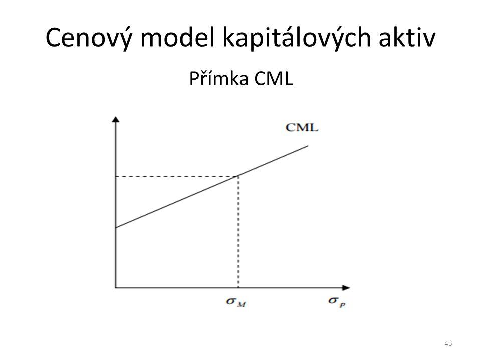 Cenový model kapitálových aktiv Přímka CML 43
