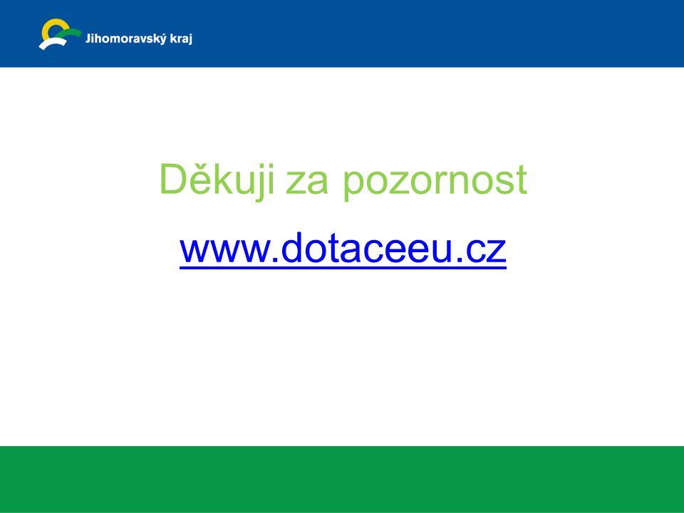 Děkuji za pozornost www.dotaceeu.cz www.dotaceeu.cz