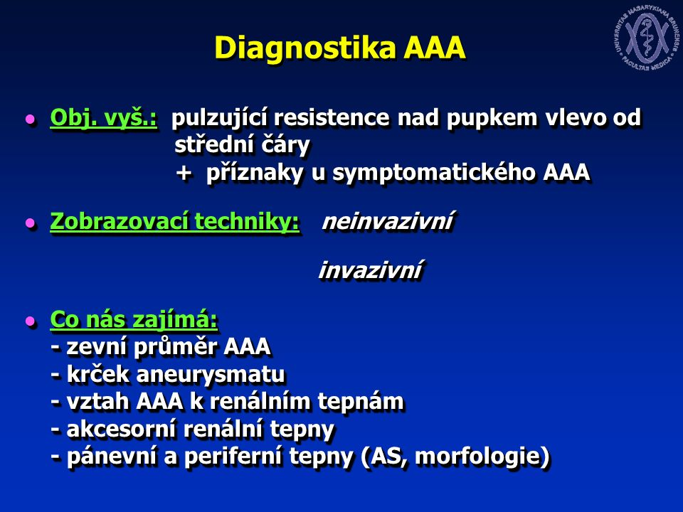 Diagnostika AAA Obj.