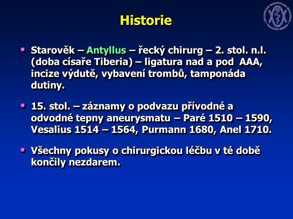 Historie  Starověk – Antyllus – řecký chirurg – 2.