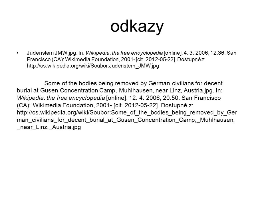 odkazy Judenstern JMW.jpg. In: Wikipedia: the free encyclopedia [online].