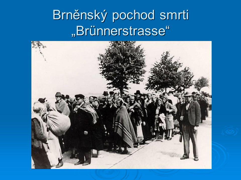 """Brněnský pochod smrti """"Brünnerstrasse"""""""