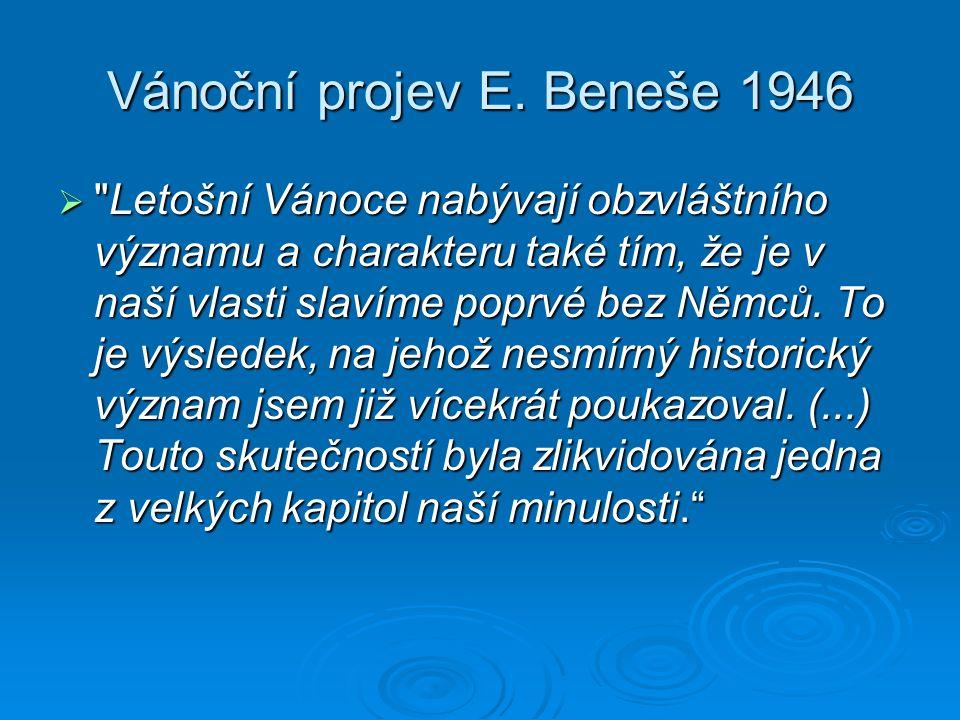 Vánoční projev E. Beneše 1946 