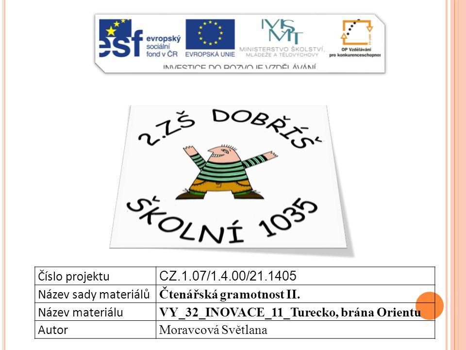 Číslo projektu CZ.1.07/1.4.00/21.1405 Název sady materiálů Čtenářská gramotnost II.