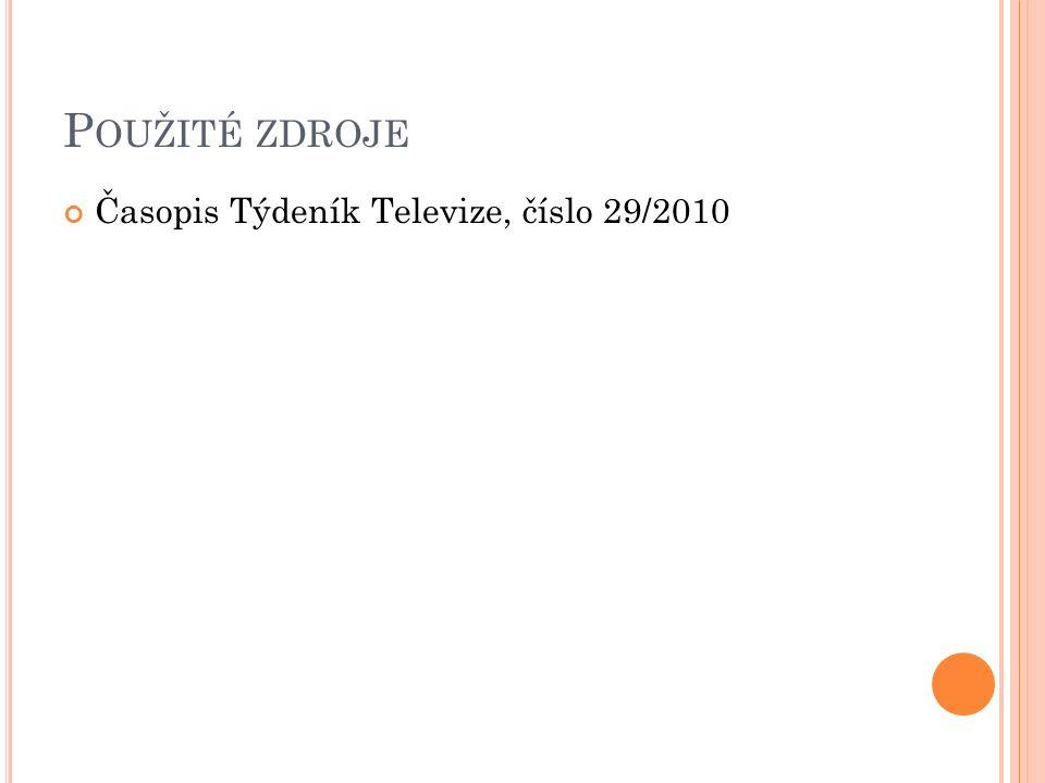 P OUŽITÉ ZDROJE Časopis Týdeník Televize, číslo 29/2010