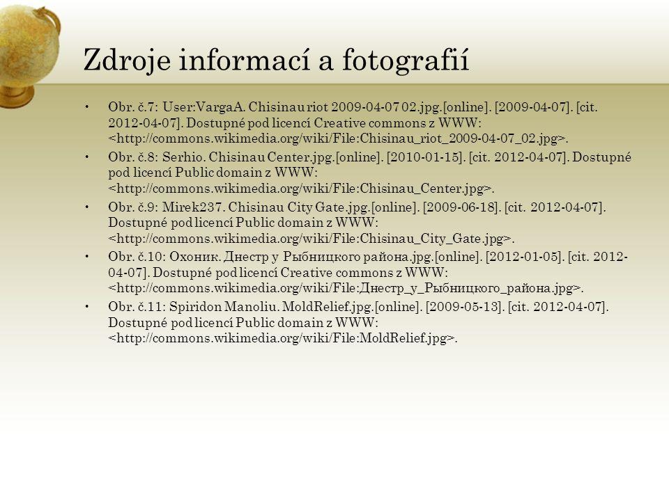 Zdroje informací a fotografií Obr. č.7: User:VargaA.