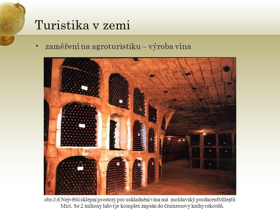 Turistika v zemi zaměření na agroturistiku – výroba vína obr.č.6 Největší sklepní prostory pro uskladnění vína má moldavský producentMiletii Mici.