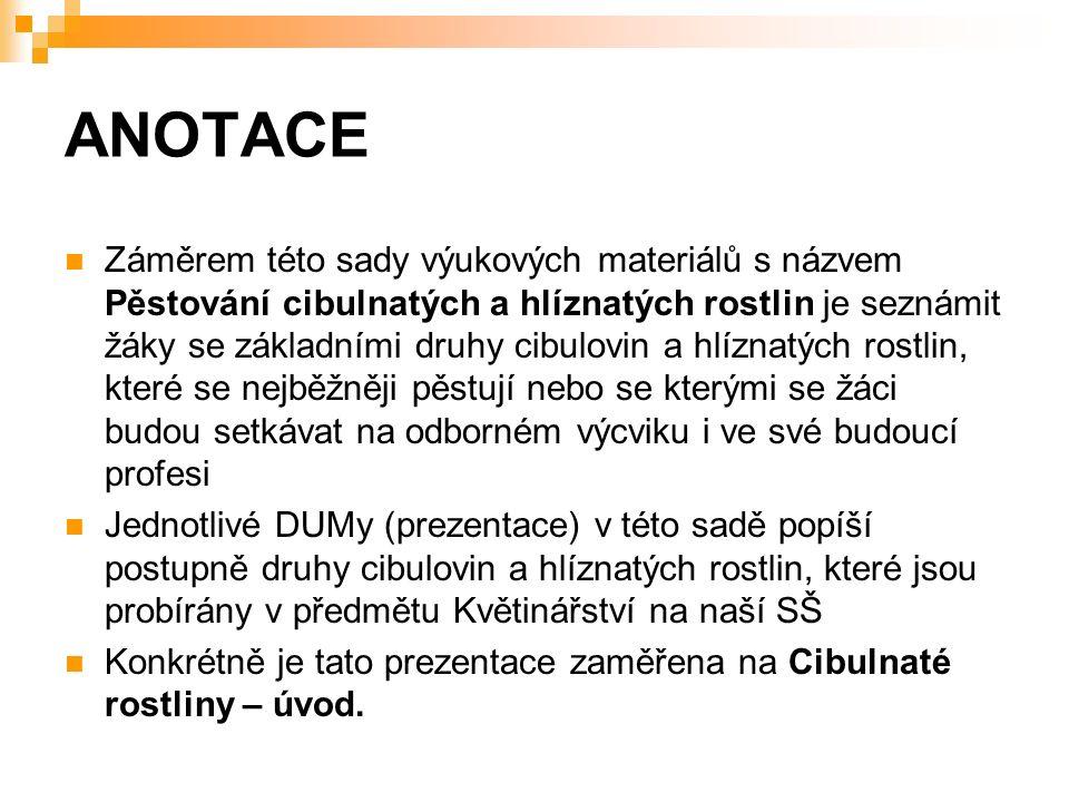 CIBULOVINY