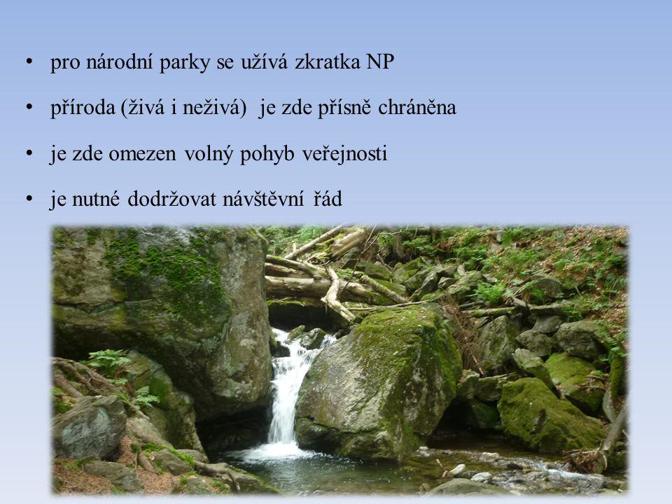 Co znamená název národní park.