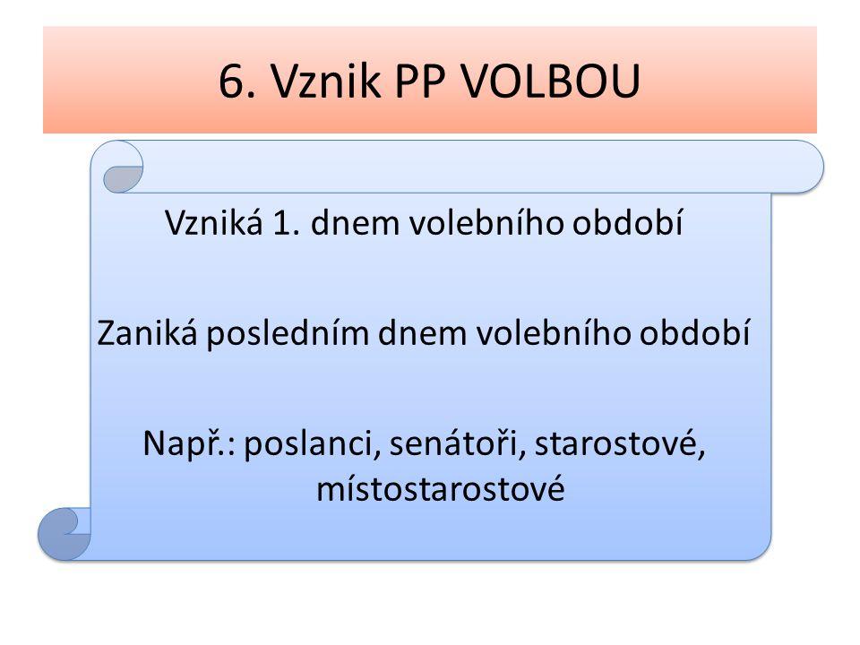 6. Vznik PP VOLBOU Vzniká 1.