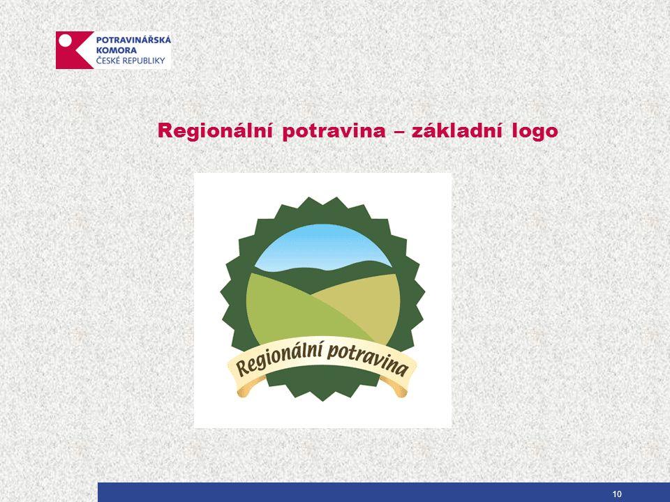Regionální potravina – základní logo 10
