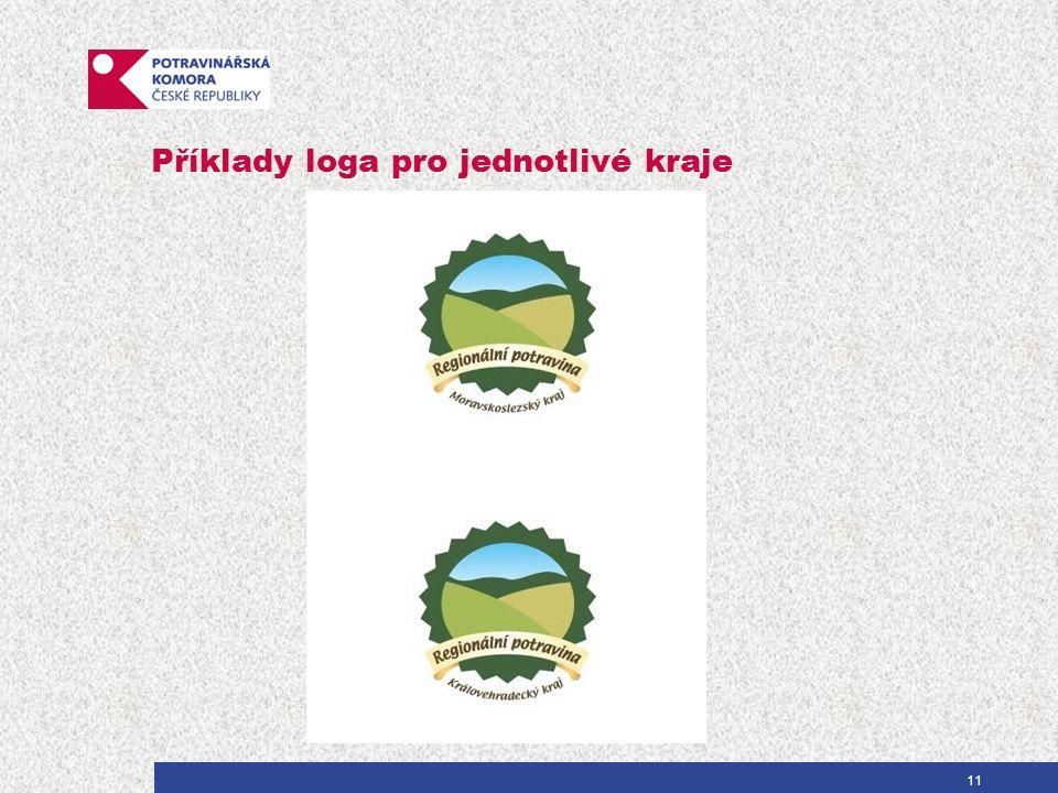 Příklady loga pro jednotlivé kraje 11