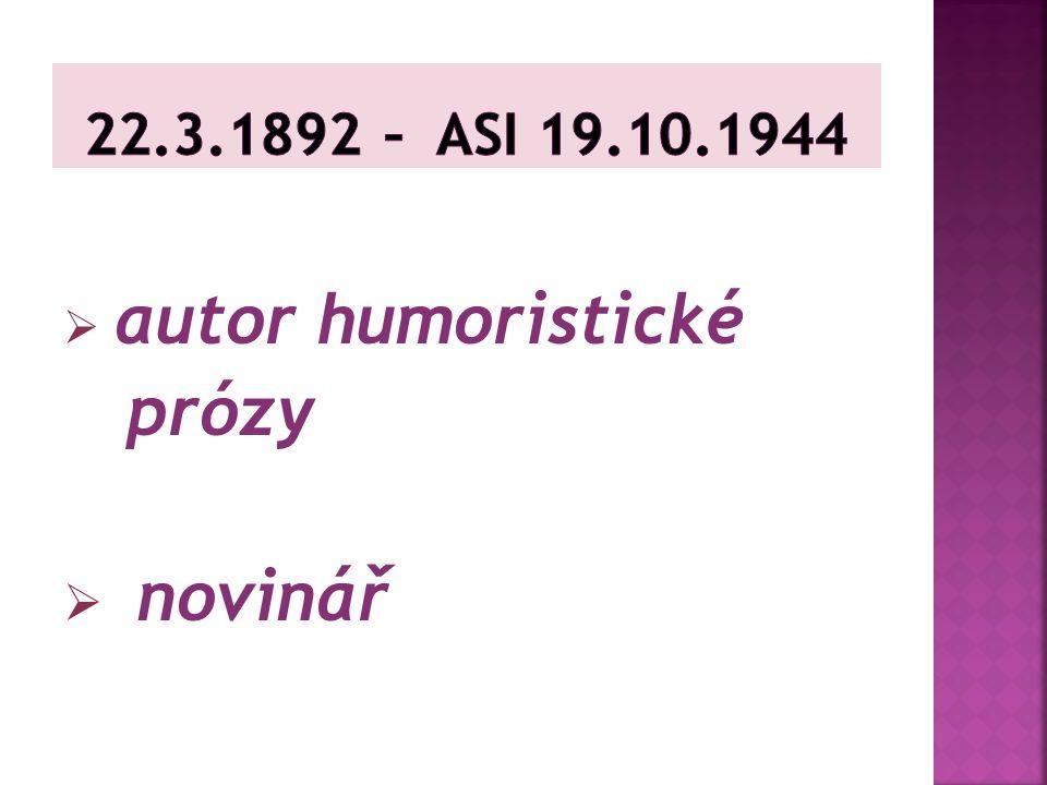 narodil se v Rychnově nad Kněžnou, v rodině židovského obchodníka vystudoval gymnázium válku prožil na frontě a v zajetí pak pracoval jako úředník od roku 1922 byl zaměstnán jako redaktor Lidové noviny, Tribuna zemřel v říjnu r.