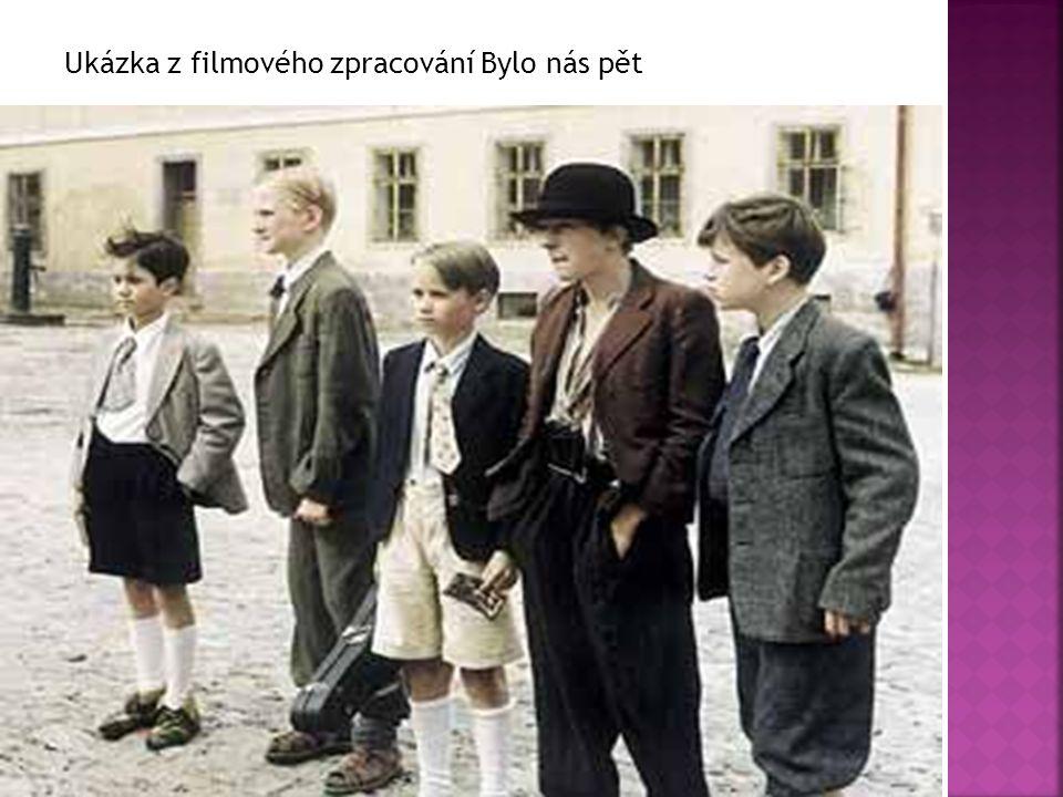 Jak se jmenují dětské postavy z románu Bylo nás pět.